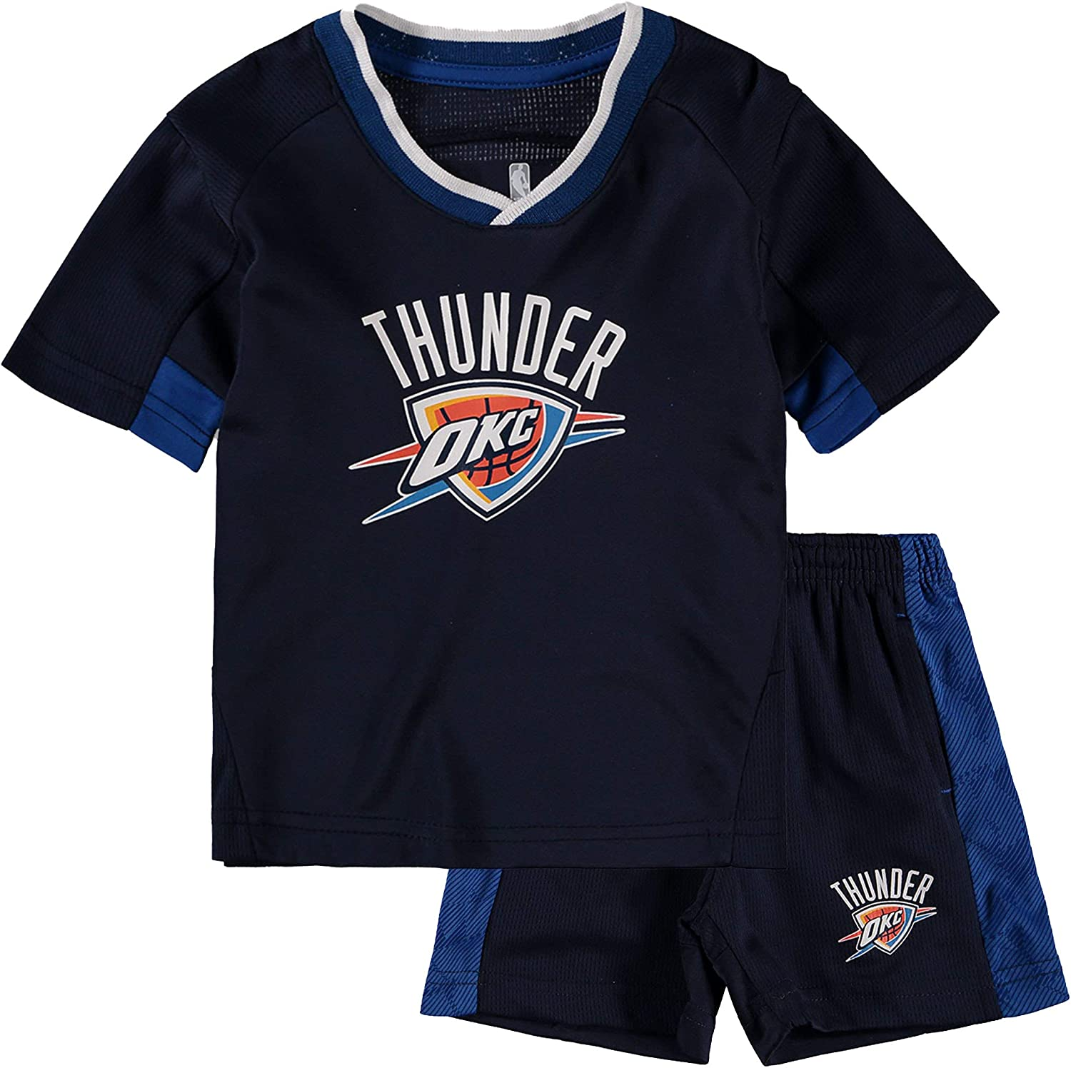 OuterStuff NBA Infants Toddler Team Color Double Dribble Primary Logo Shirt /& Shorts Set