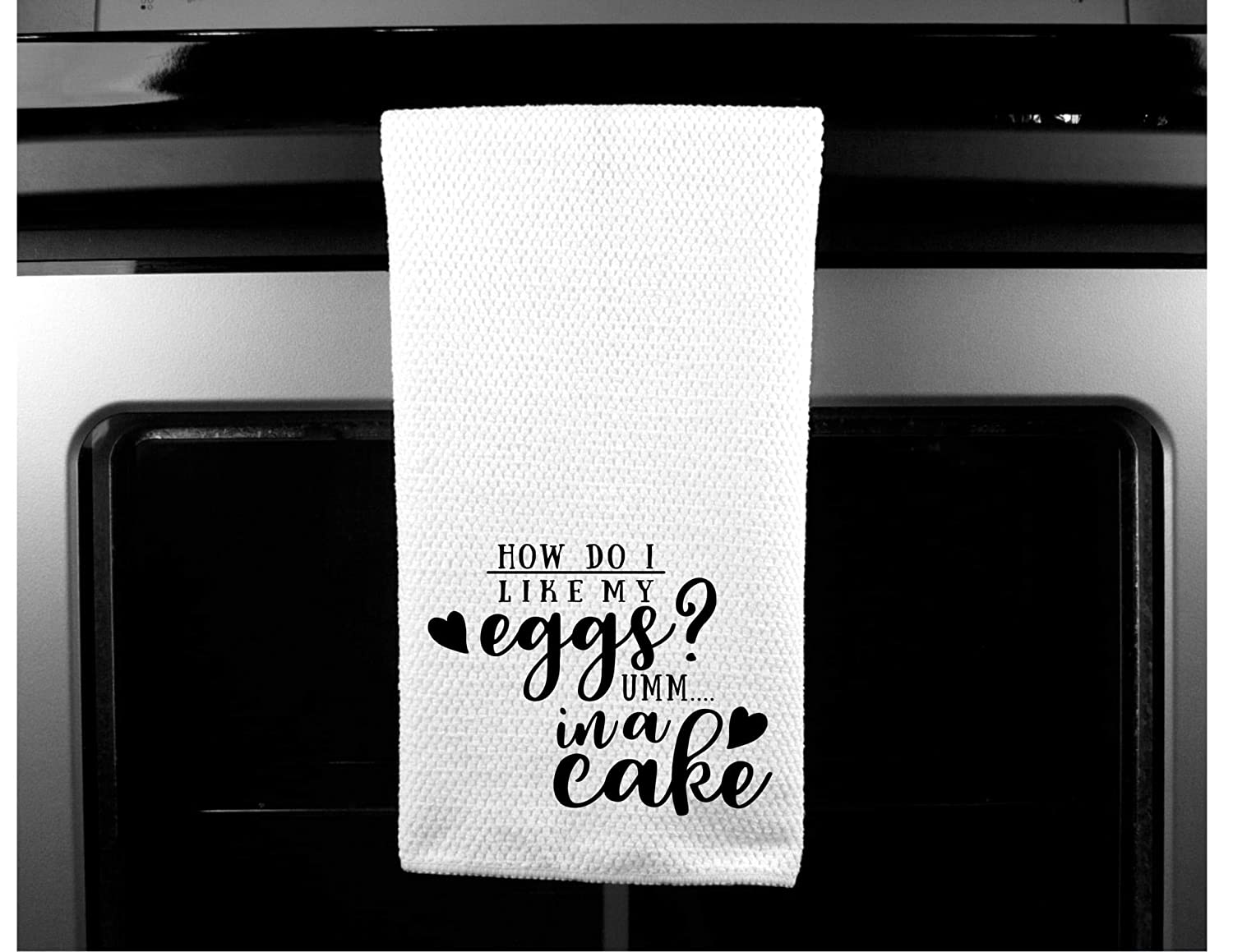 Funny Saying Tea Towel I like My Eggs In A Cake Kitchen Towel
