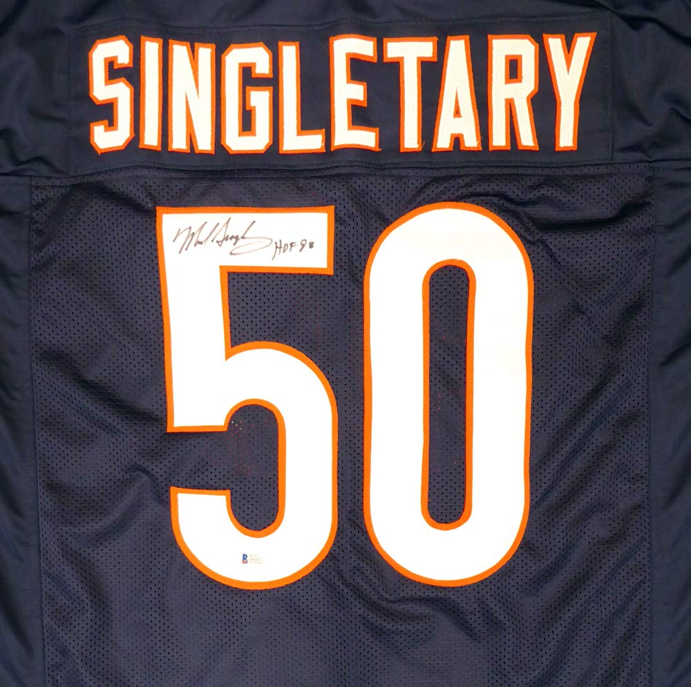 timeless design 627fc 2f98a Chicago Bears Mike Singletary Autographed Blue Jersey