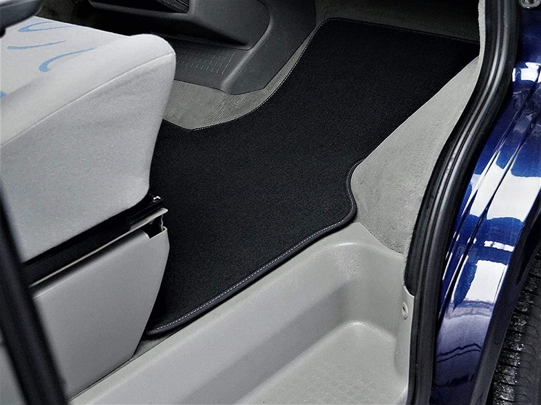Car Styling Premium Fußmatte T4 2 Sitzer Schaltgetriebe Fahrerhaus Velours Anthrazit Nubuk Umrandung Auto