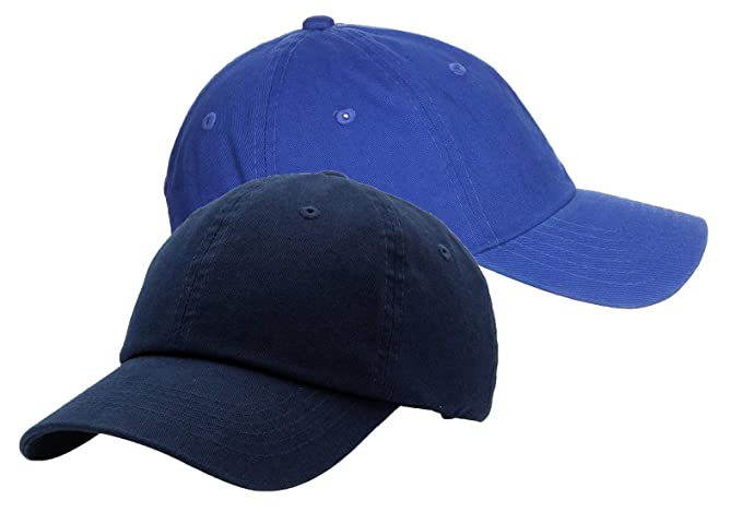 7598d723224 Zipper-G Caps Combo Pack Blue   Navy Blue Cotton Baseball Cap for Men Women