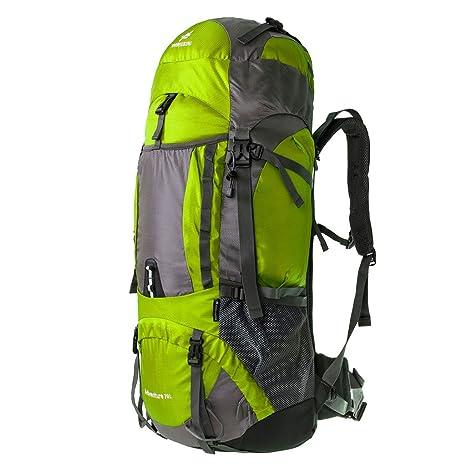 Coreal - Mochila de Senderismo, Color Verde Fluorescente