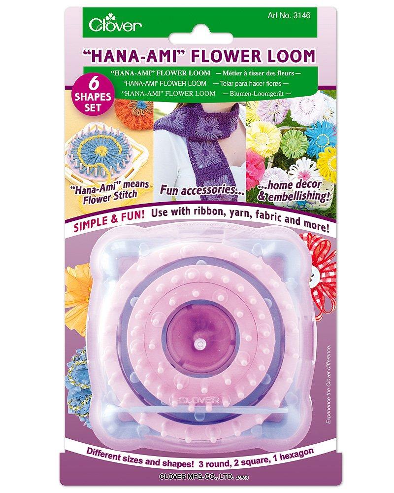 ''Hana-Ami'' Flower Loom 6 Shape Set, Pink/Blue