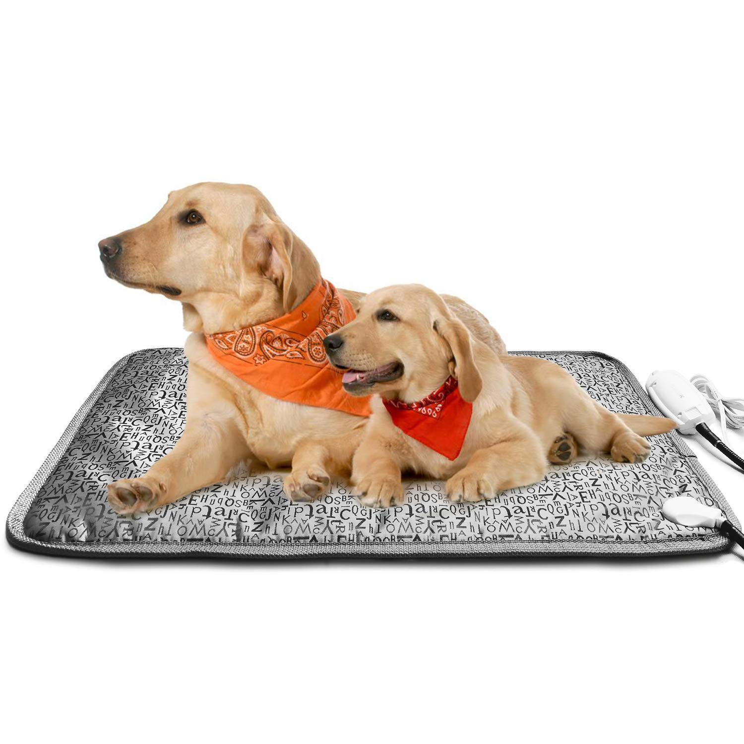 Yichang Pet Heating Pad Electric Warming Mat Pets Wammer Flexible Safety Waterproof Chew Resistant Winter for Adult Dogs Cats Indoor Large 110V 17.7''x27.9''