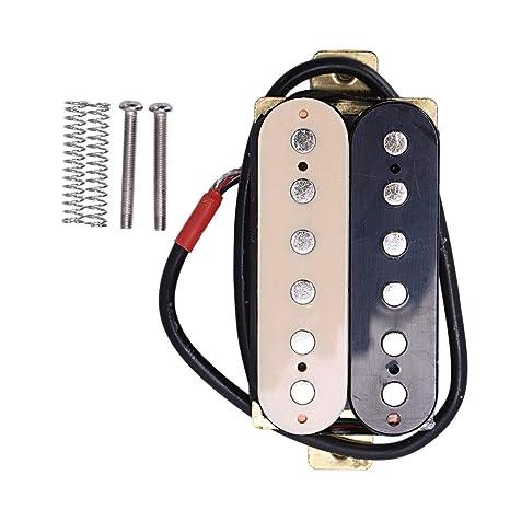 SODIAL - Pastillas para el Cuello de Guitarra eléctrica de 50 mm para Fender Stratocaster Les