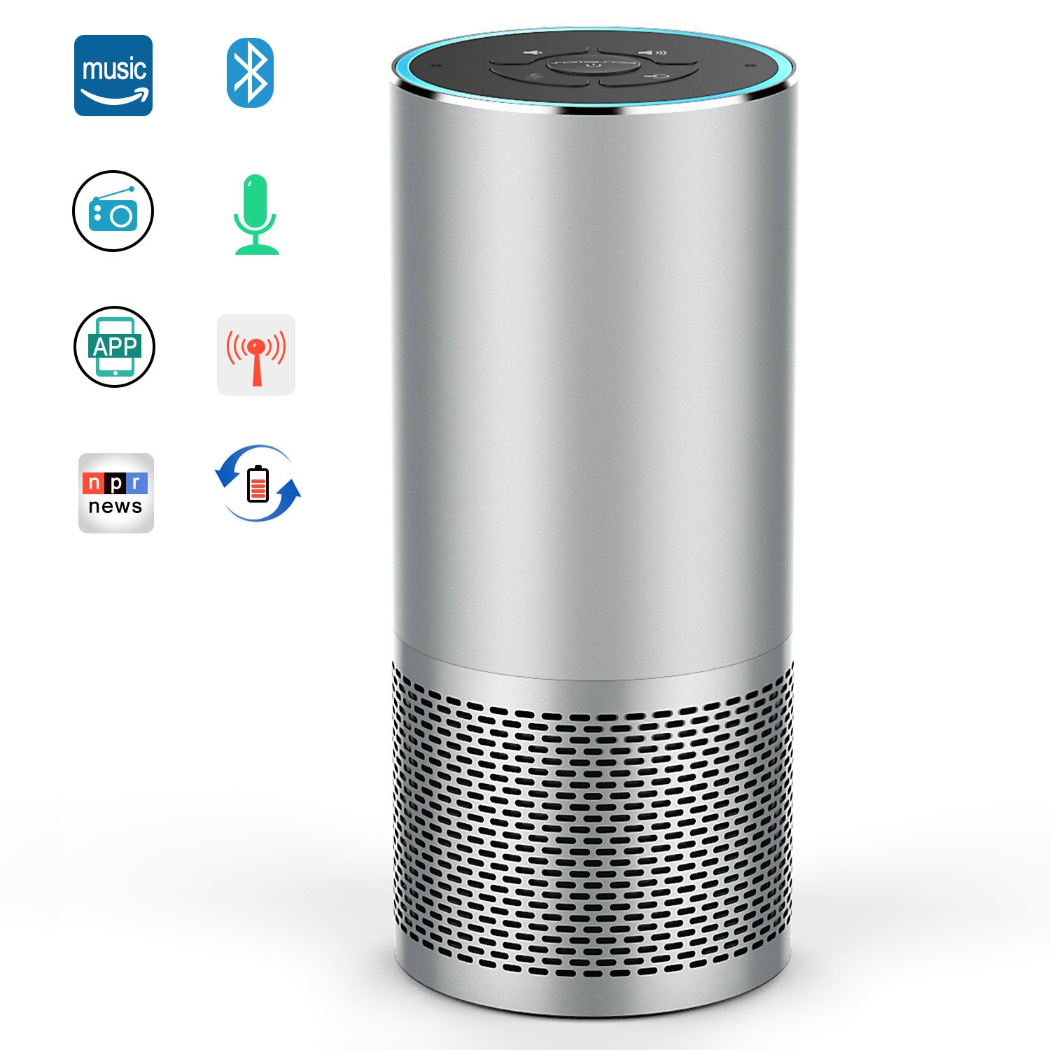Smart Speaker with Alexa, Voice Control Wireless Speaker Portable Bluetooth Speaker