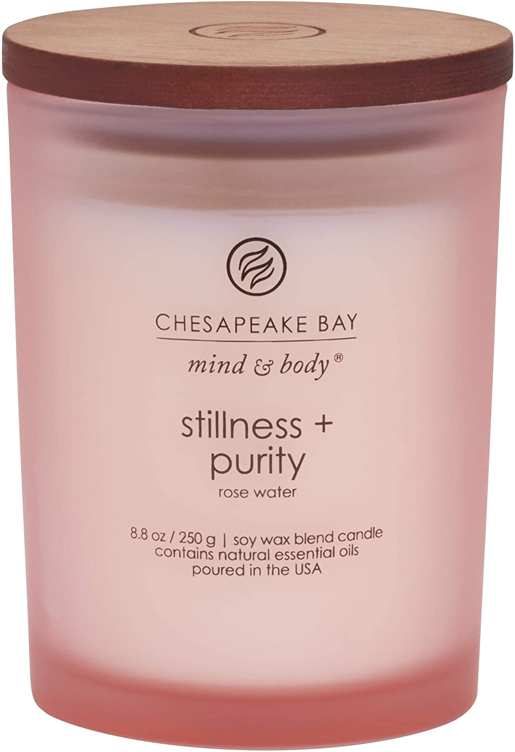 Chesapeake Bay Candle Scented Candle, Stillness + Purity (Rose Water), Medium