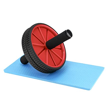 amazon com reehut wheels with knee pad the exercise wheels withreehut wheels with knee pad the exercise wheels with dual wheels and comfy foam handles