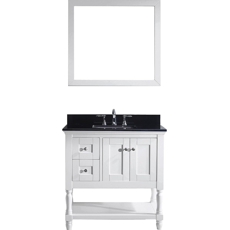 Virtu MS-3136-BGSQ-WH Julianna Single Bathroom Vanity Cabinet Set ...