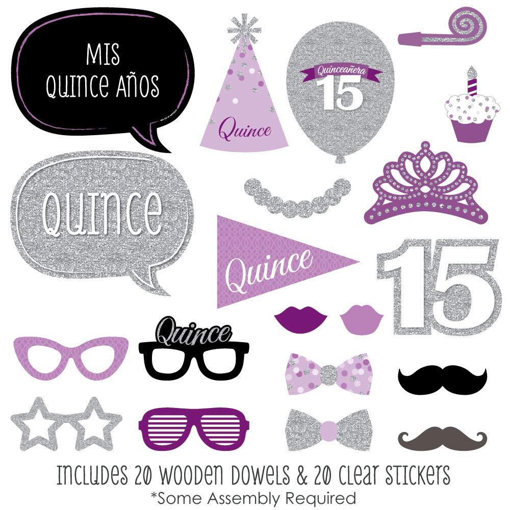 Amazon.com: Quinceañera púrpura – dulce 15 – Kit de ...