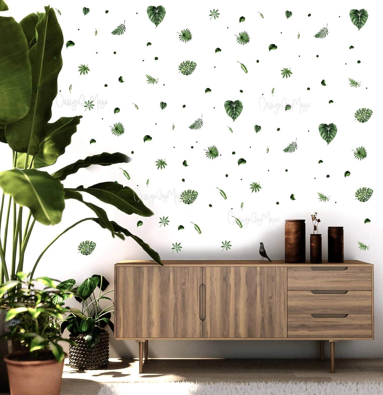 Large Wall Bamboo Tree Decal Forest Kids Vinyl Sticker Art Jungle Nursery Leaves