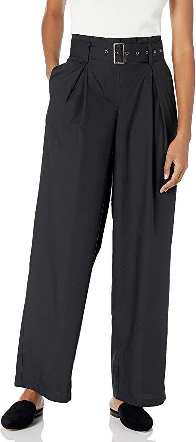 1980s Clothing, Fashion | 80s Style Clothes The Drop Womens Julia Loose High-Waist Belted Pleated Tapered Leg Poplin Pant $49.90 AT vintagedancer.com