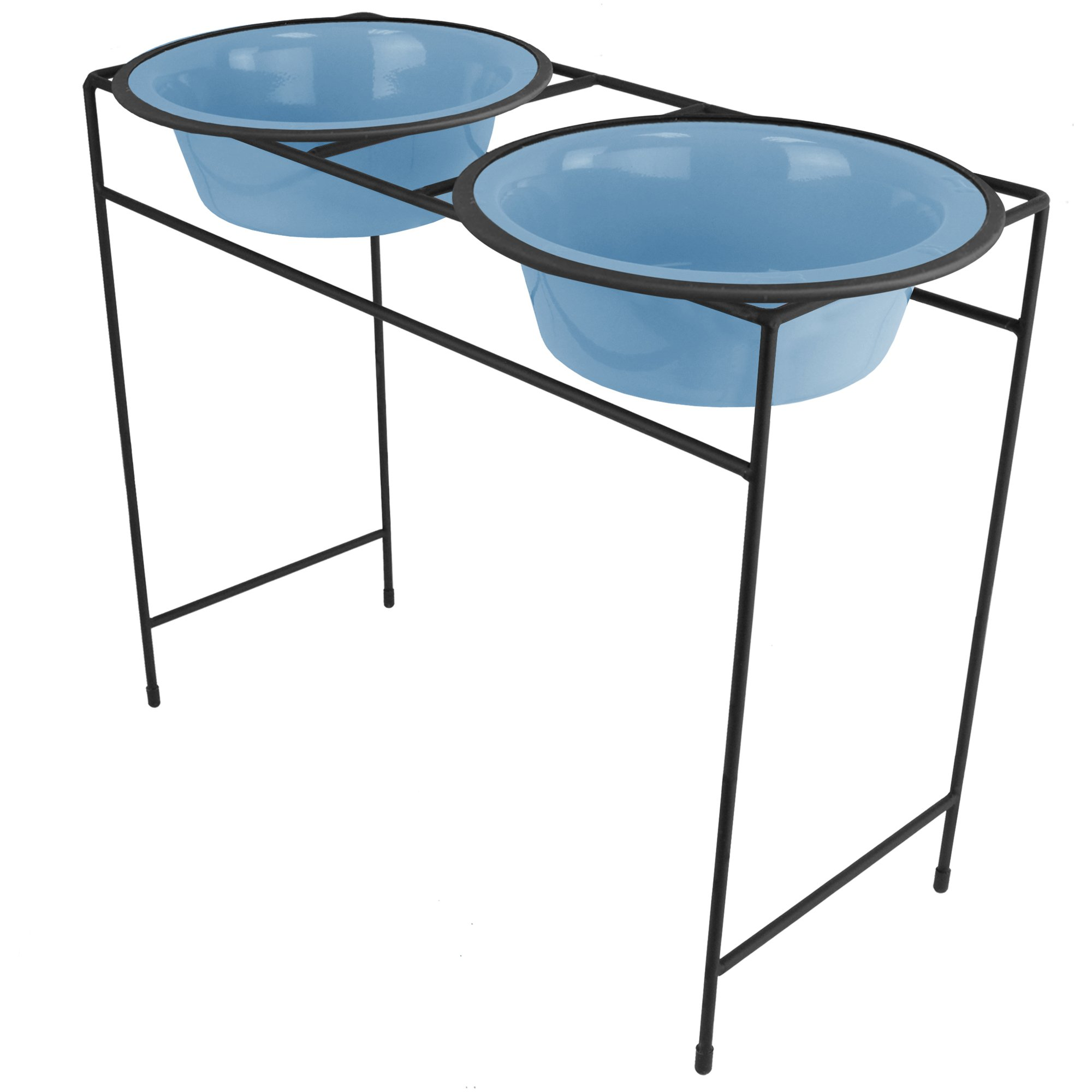 Platinum Pets Modern Double Diner Feeder with Stainless Steel Cat/Dog Bowls by Platinum Pets