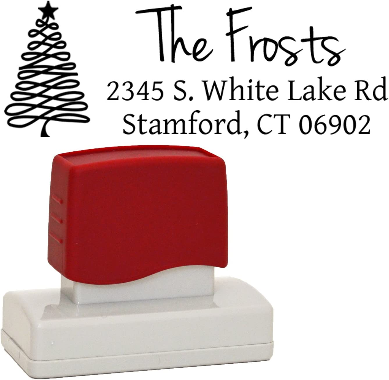 Christmas Stamps Custom Christmas Return Address stamp Custom Stamp --SI-4929-hohoho Return Address Stamps Custom Christmas Stamps