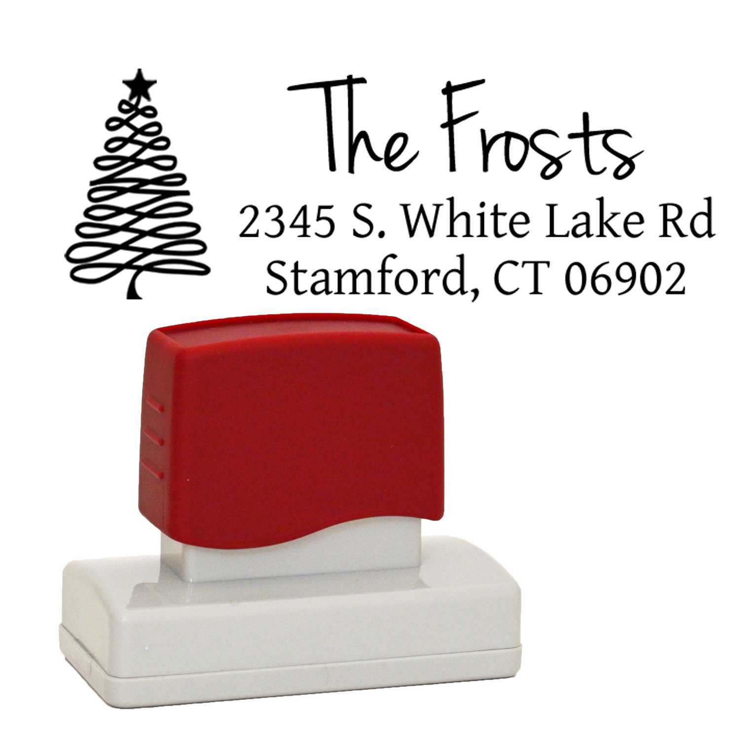Amazon.com : Holiday Rubber Address Stamp, Self-Inking Stamper ...