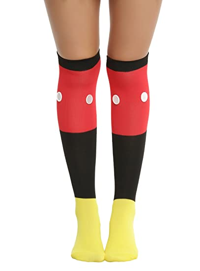 3349580a403 Disney Mickey Mouse 1 Pair of 3D Button Knee Sock Ladies and Juniors at  Amazon Women s Clothing store