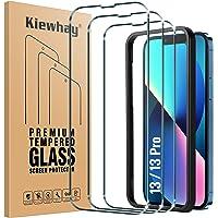 Kiewhay Schermbeschermer Compatibel met iPhone 13/ iPhone 13 Pro Screenprotector 6.1'', [9H-hardheid] [Geen Bubbels…