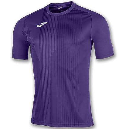 Joma Camiseta Tiger M/C Morado Fútbol Fashion Camiseta para Hombre, 100945_550_4XS-3XS