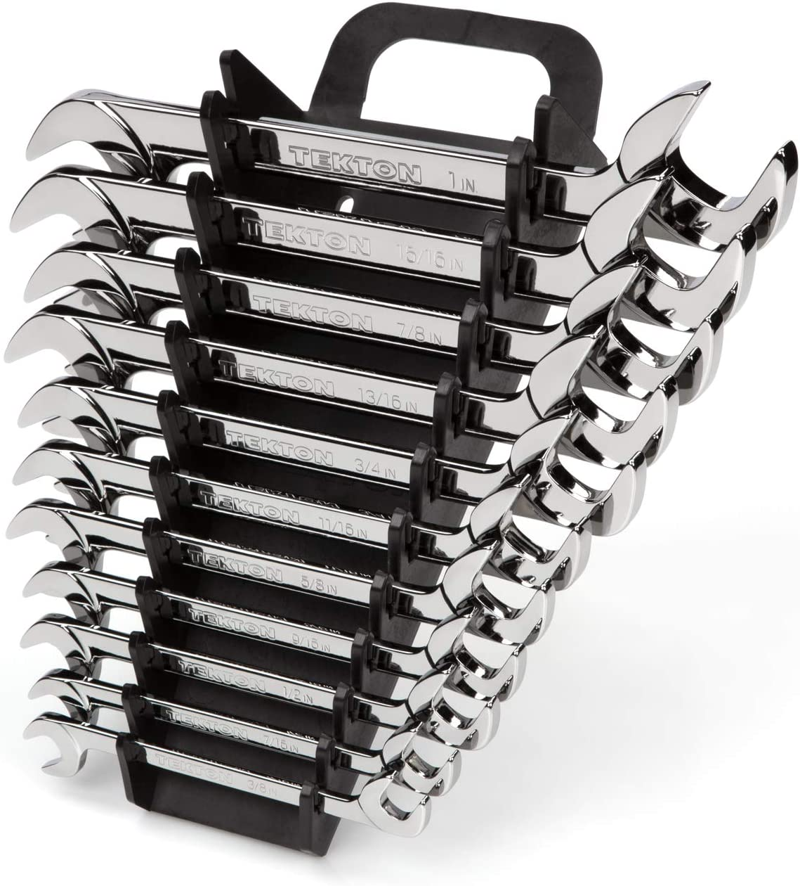 - Holder TEKTON Angle Head Open End Wrench Set 12-Piece WAE91201 8-19 mm