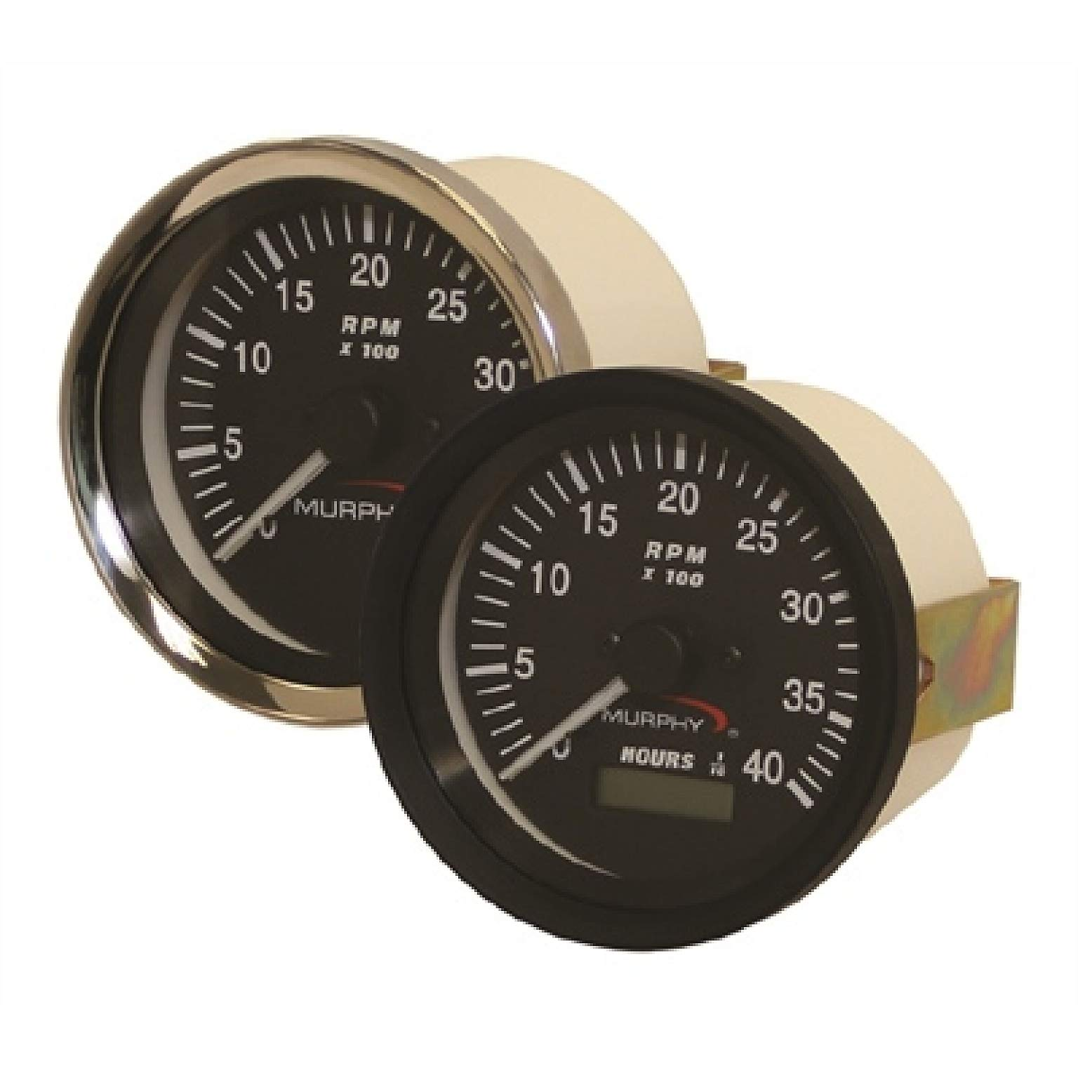 MURPHY-FRANK W.MFG Tachometers and Tach/Hourmeters - AT and ATH Series - TACH/HOUR FLYWHEEL 12V - ATHS-30 Tachometer/Hourmeter (20700249)