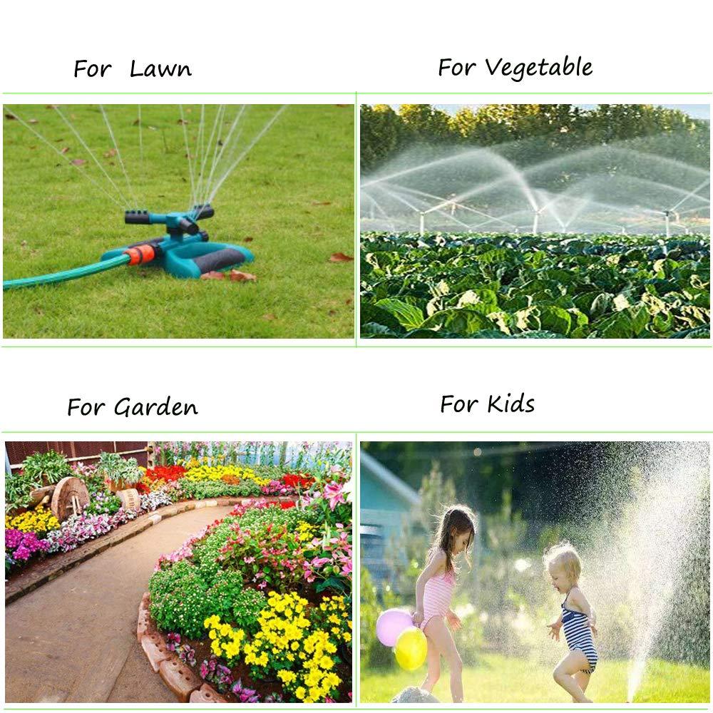Becho Garden Sprinkler,360 Degree Rotating Lawn Sprinkler with a Large Area of Coverage Adjustable,Garden Water Sprinklers System
