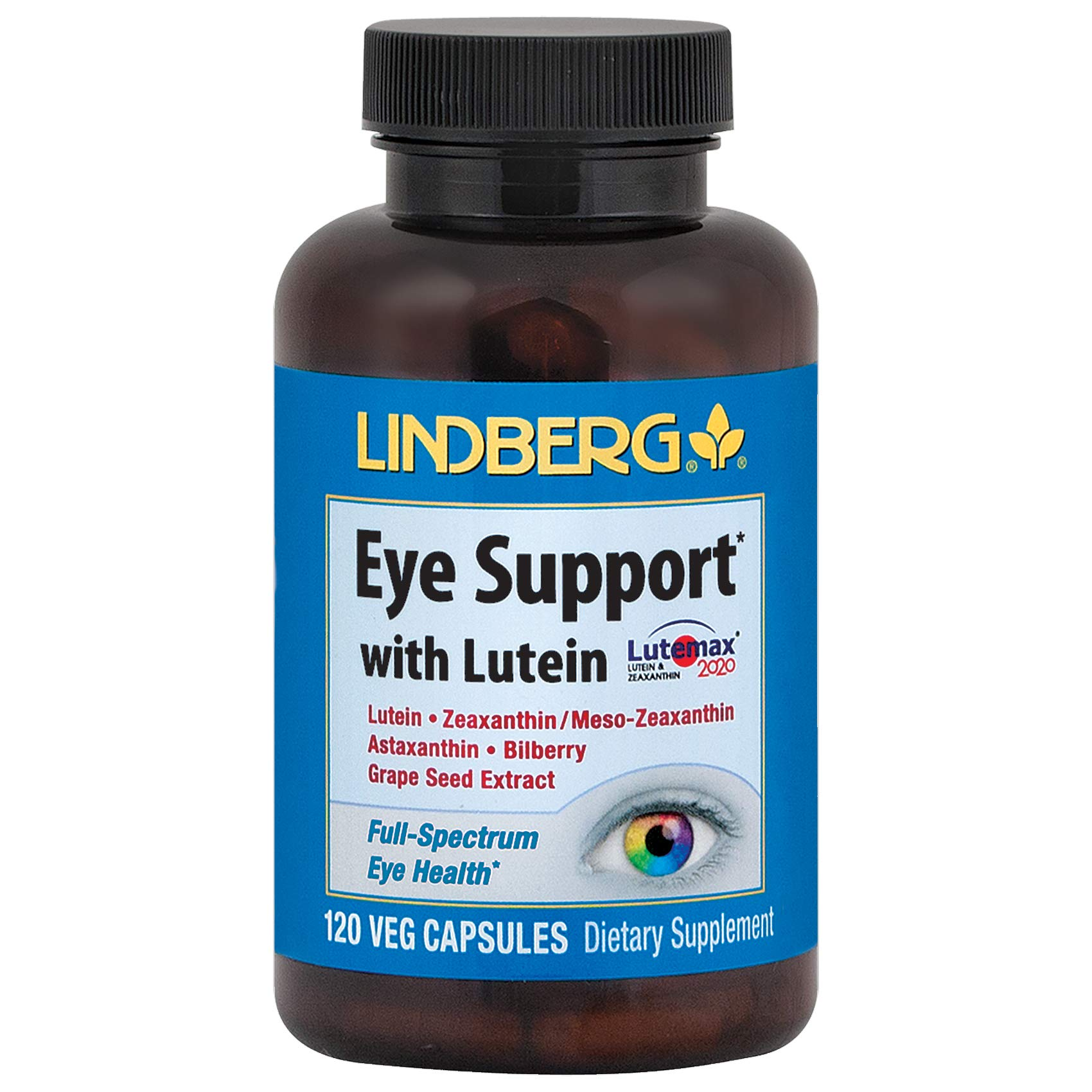 Lindberg Eye Support* with Lutein (120 Capsules)