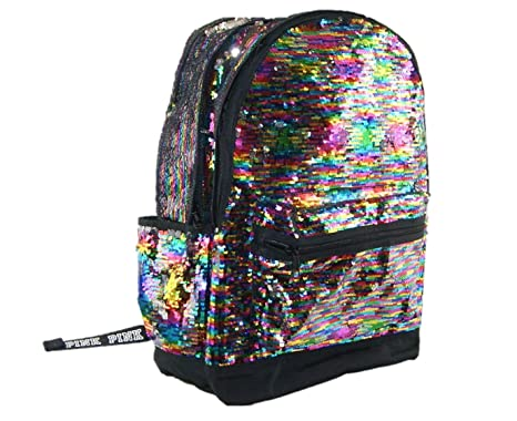 1b76d7fe6f4b Image Unavailable. Image not available for. Color  Victoria s Secret Pink Campus  Backpack Sequined ...