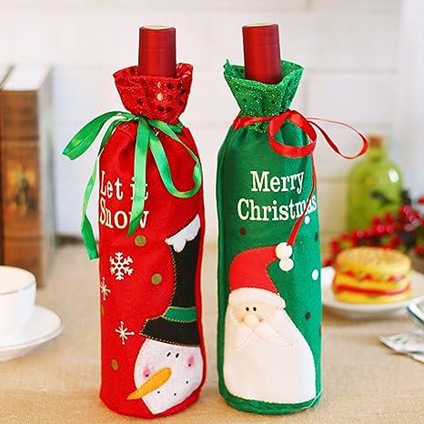 ElementDigital Navidad botella de vino bolsas para botella ...