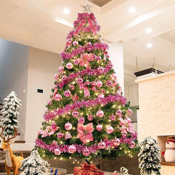 Yongfeng Árbol de Navidad Paquete cifrado Decoraciones de Navidad Cerca de Centro Comercial Hotel Home Adornos de Navidad, una Variedad de Colores Disponibles árbol de Navidad