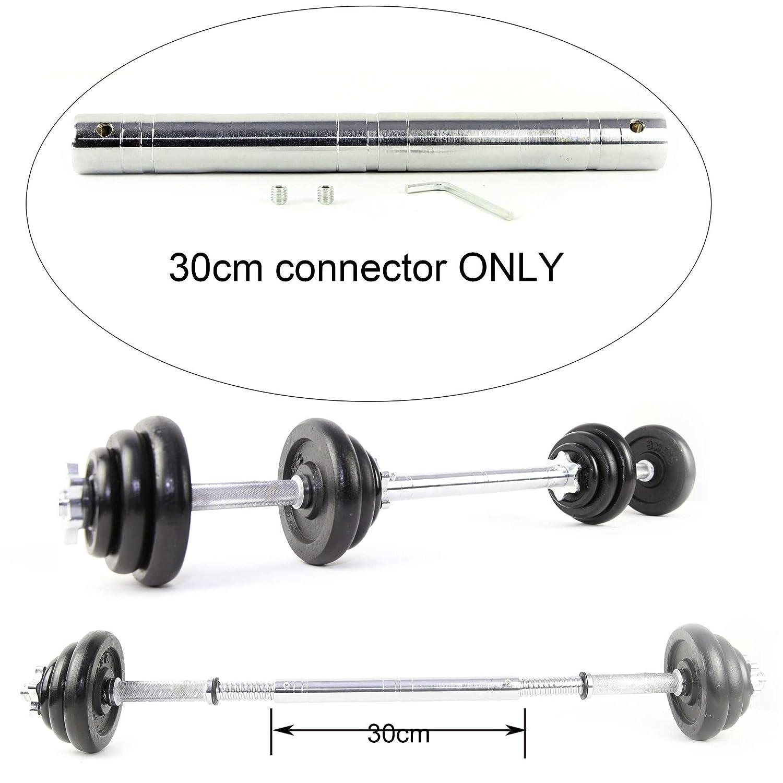 30 cm conector tubo de acero para hierro pesas Juego de mancuernas para adaptarse a 1
