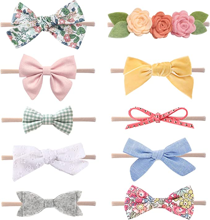 More Colours available.... Blue Bow Headband Preemie : Adult Sizes :