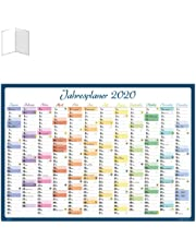Calendario Anual 2020 Para Imprimir Gratis.Amazon Es Calendarios De Pared Oficina Y Papeleria