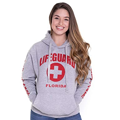 e8328d0e Amazon.com: LIFEGUARD Official Hoodie Florida Ladies: Clothing
