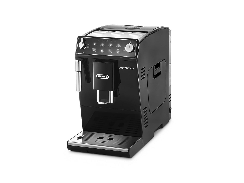 De'longhi Autentica Etam 29.510.B - Cafetera Superautomática, 1450 W, capacidad 1.3 L, muy estrecha, dispositivo cappuccino y variedad de cafés, 2 tazas, molinillo café silencioso, auto apagado, negro