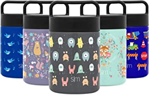 Simple Modern Provision Insulated Food Jar Thermos Leak Proof Stainless Steel Storage Lunch Container, 12oz with Handle Lid, Kids: Little Monsters