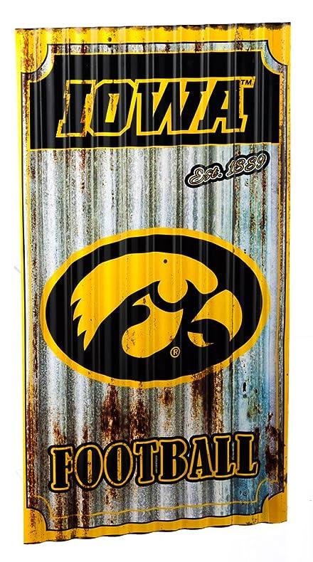 Amazon.com : Team Sports America Iowa Hawkeyes Corrugated Metal Wall ...