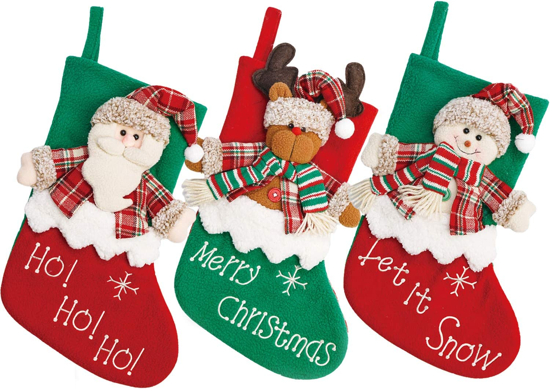Yecence Christmas Stockings Large 3 Pcs Set 18