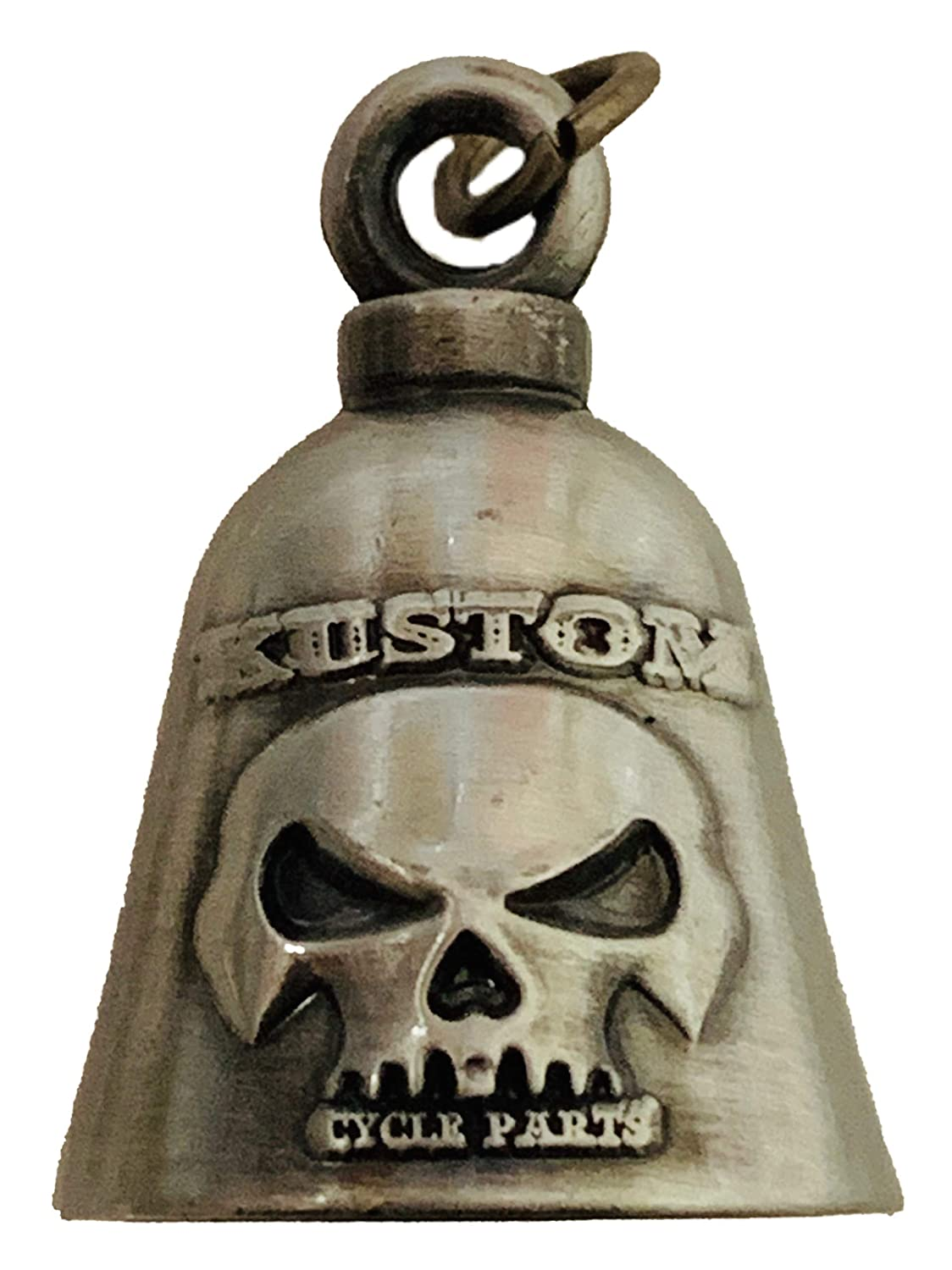 Bolt and Ring Included Proudly MADE IN THE USA! No Bell Kustom Cycle Parts Universal Rustic American Flag Cross Bell Hanger Fits all Harley Davidson Motorcycles /& More