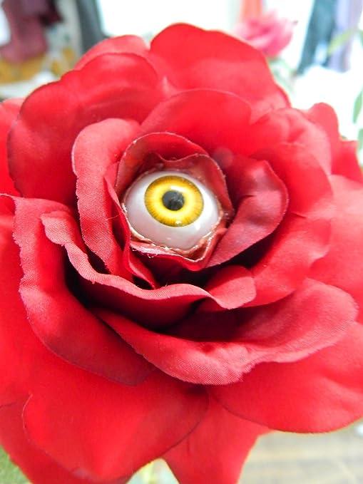HALLOWEEN PROP REALISTIC FREAKY Sunflower WITH ACRYLIC eye
