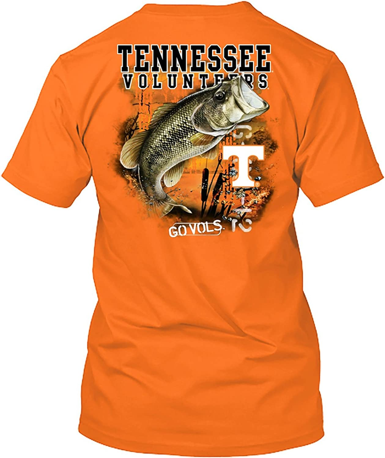 Bass Fishing T Shirt New World Graphics NCAA Officially Licensed Apparel