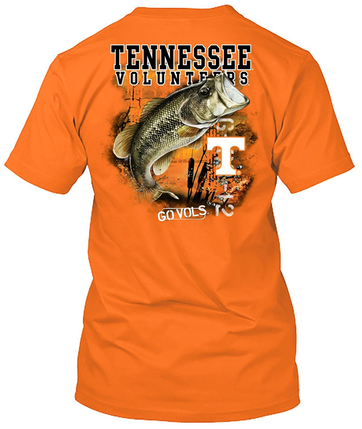 New World Graphics NCAA Bass Fishing T Shirt Multiple Universities Available up to 2X and 3X Officially Licensed Apparel