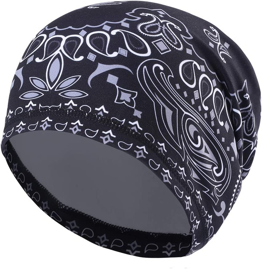 Runtlly Sweat-Wicking Skull Cap/Helmet Liner/Running Beanie Cap -Ultimate Thermal Retention Bandana/Fits Under Helmets Cycling Cap