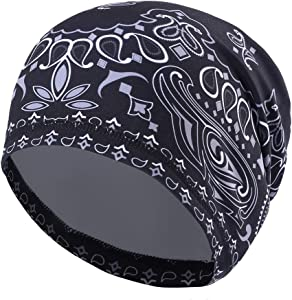 Runtlly Sweat-Wicking Skull Cap/Helmet Liner/Running Beanie Cap -Ultimate Thermal Retention Bandana/Fits Under Helmets Cycling Cap