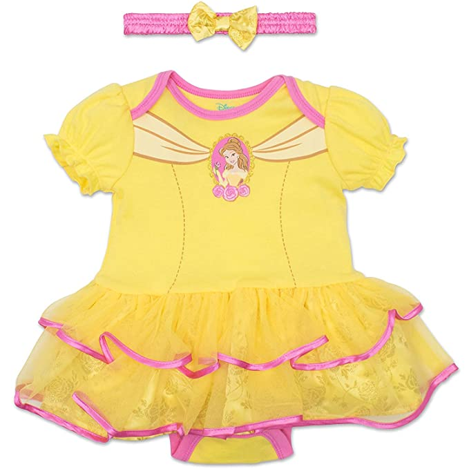 8c5e4eeda Image Unavailable. Image not available for. Colour: Disney Princess Belle  Baby Girls' Costume Tutu Dress ...