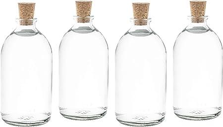 bouteilles en verre vides bouteilles de liqueur gouveo 24 bouteilles vides 250 ml avec bouchon