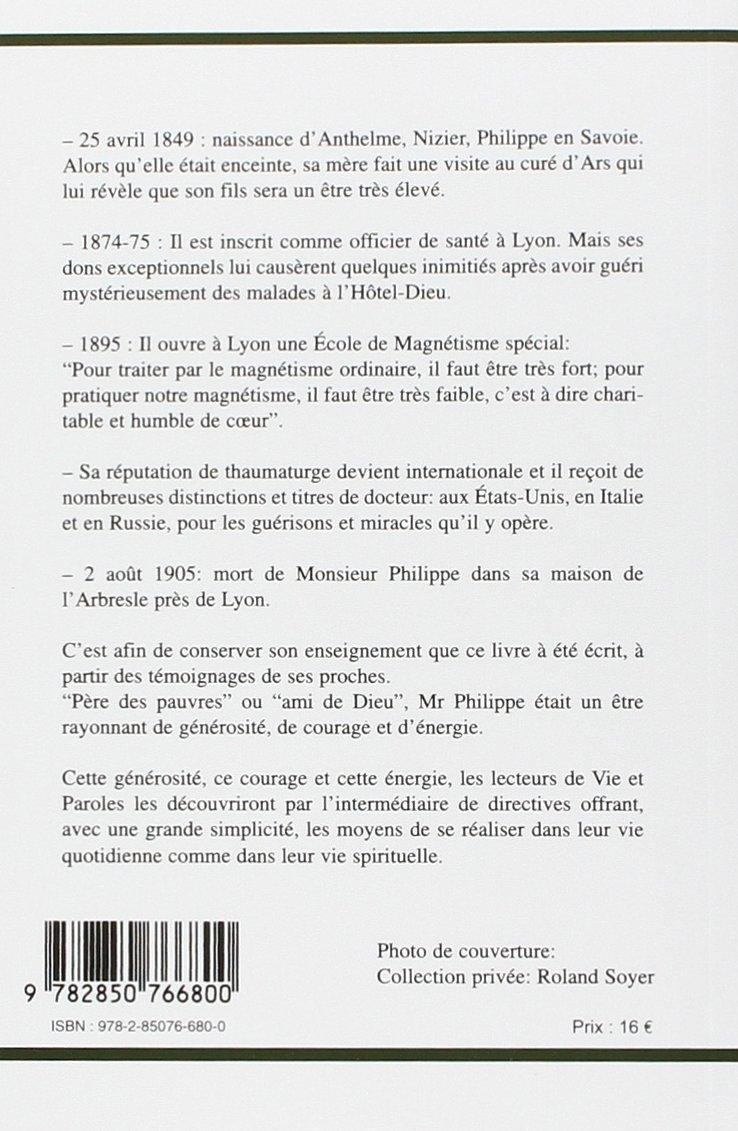 Vie Et Paroles Du Maitre Philippe Amazonfr Alfred Haehl Livres