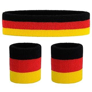 rutschfestes Stirnband und 2 hochwertige Schwei/ßb/änder f/ür/'s Handgelenk Dein 3er Vorteilspack Freshkeychain Premium Schwei/ßband Set