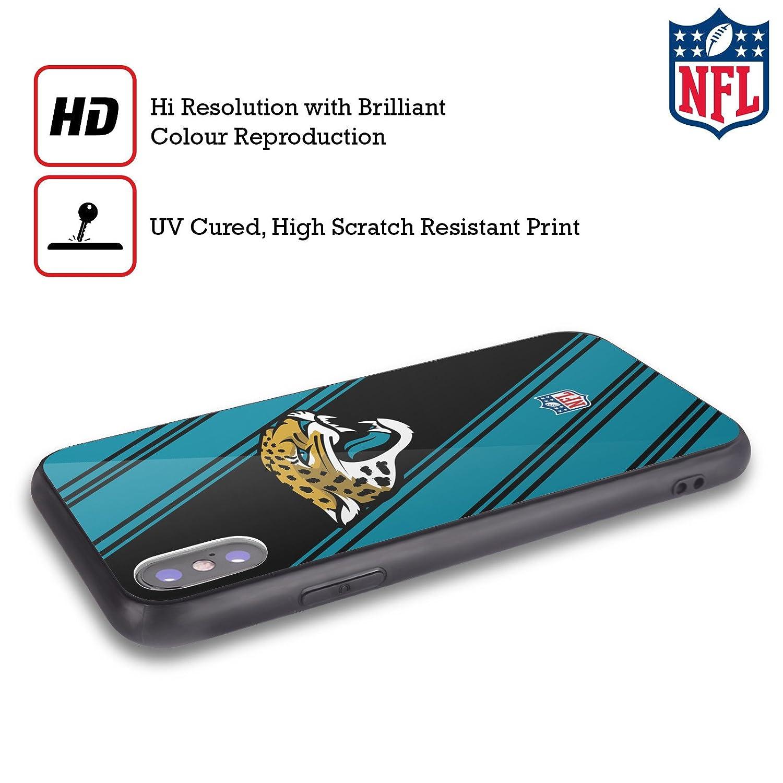 Head Case Designs Ufficiale NFL LED 2017//18 Jacksonville Jaguars Nero Cover Retro Ibrida in Vetro per iPhone 7//iPhone 8