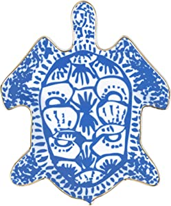 Lilly Pulitzer Women's Blue Porcelain Jewelry Trinket Tray, Turtley Awesome