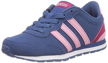 adidas V Jog K Zapatillas de deportepara niños, Azul